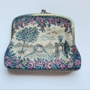 True Vtg Cross Stitch Clutch Bag